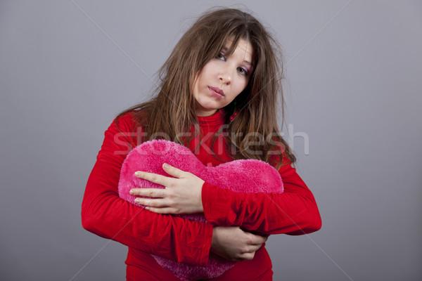 Sad girl with heart.  Stock photo © Massonforstock