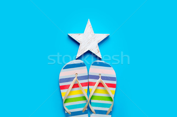 colorful sandals and beautiful star shaped toy on the wonderful  Stock photo © Massonforstock