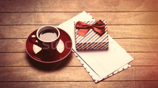 Stok fotoğraf: Fotoğraf · fincan · kahve · sevimli · hediye · harika