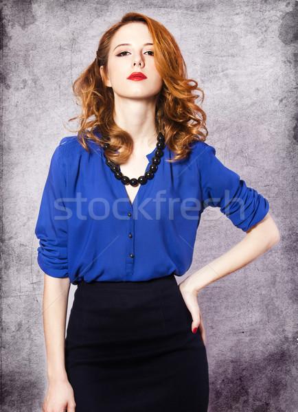 American redhead girl. Stock photo © Massonforstock