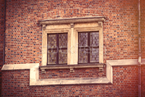 photo of beautiful vintage old window in Wroclaw, Poland Stock photo © Massonforstock