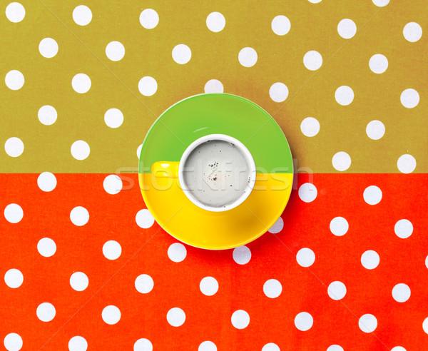 Foto copo café maravilhoso colorido Foto stock © Massonforstock