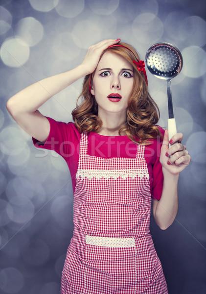 домохозяйка суп ковш женщину девушки Сток-фото © Massonforstock