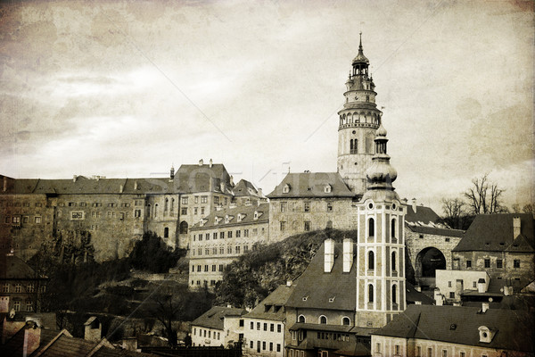 Krumlov. The old town in the South Bohemian region of the Czech  Stock photo © Massonforstock