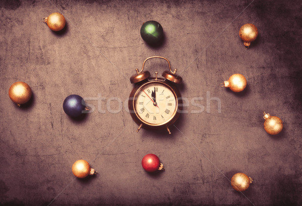 baubles and alarm clock  Stock photo © Massonforstock