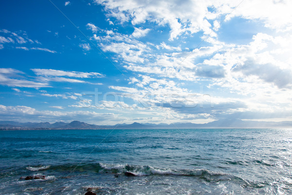 photo of clear and beautiful sea on the wonderful blue sky in su Stock photo © Massonforstock