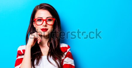 portrait of a young woman with a toy Stock photo © Massonforstock