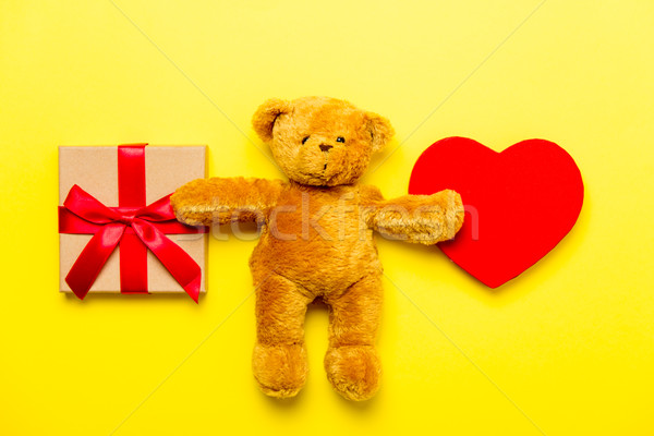 gift, toy and teddy bear Stock photo © Massonforstock