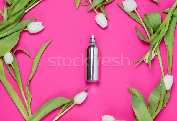 духи тюльпаны красивой серебро белый Сток-фото © Massonforstock