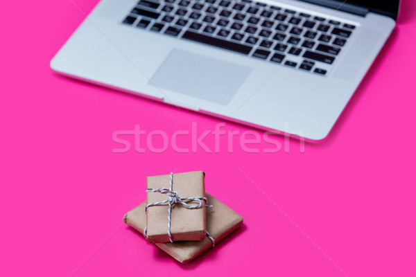 красивой небольшой подарки Cool ноутбука замечательный Сток-фото © Massonforstock