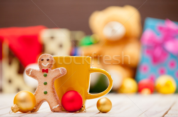 cup with gingerbread man  Stock photo © Massonforstock