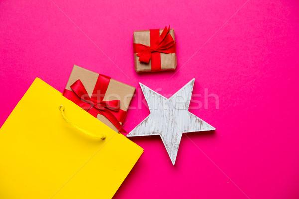 Bonitinho presentes estrela brinquedo bolsa de compras Foto stock © Massonforstock