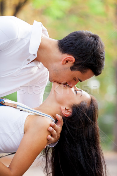 写真 かわいい カップル キス 素晴らしい ストックフォト © Massonforstock