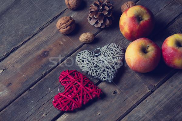 Gyönyörű szív alakú játékok diók csodálatos Stock fotó © Massonforstock