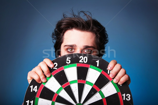 boy cover dart  Stock photo © Massonforstock