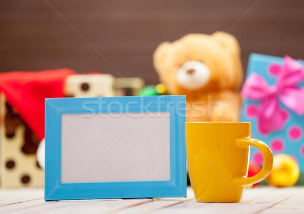 Сток-фото: Кубок · кадр · кофе · чай · синий