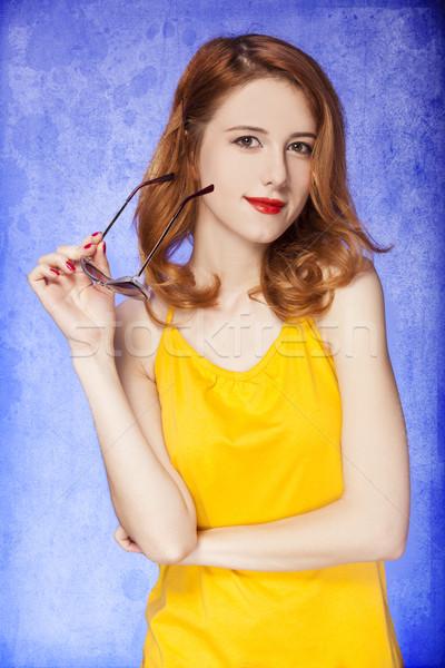 Amerykański dziewczyna okulary Fotografia 60s Zdjęcia stock © Massonforstock