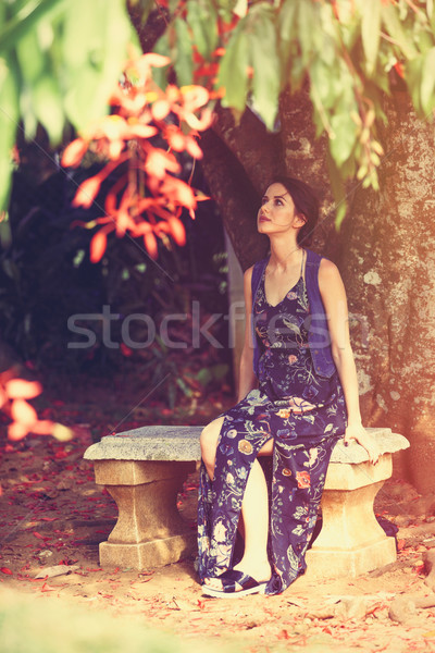 woman in a garden Stock photo © Massonforstock
