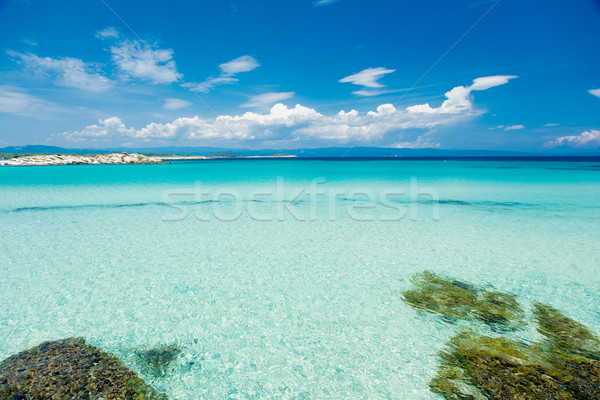 photo of beautiful nature view on the sea and island in Greece Stock photo © Massonforstock