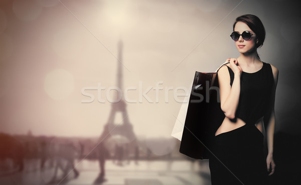 Hermosa maravilloso eiffel Eiffel Tower Foto stock © Massonforstock