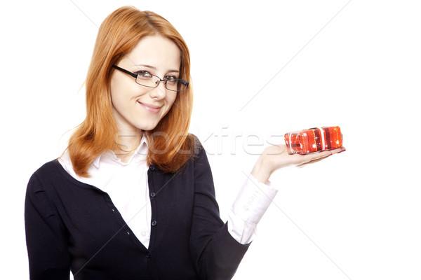 Foto stock: Negocios · mujeres · regalo · nina · sonrisa · trabajo