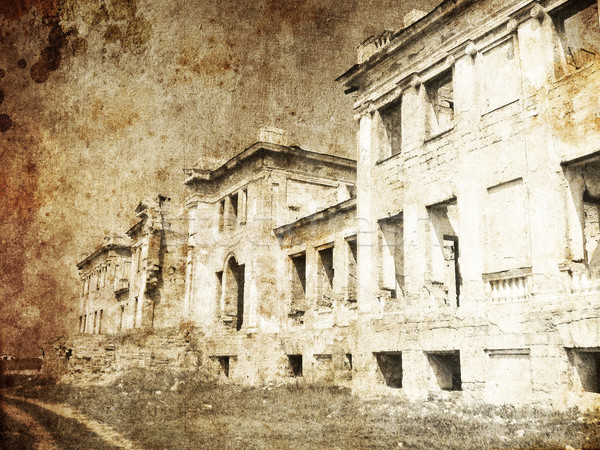 Old Palace ruins in Odessa. Photo in old image style.  Stock photo © Massonforstock