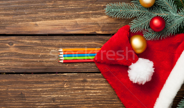 pencils and chrismtas baubles  Stock photo © Massonforstock