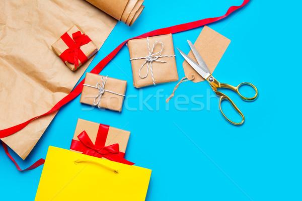 Stok fotoğraf: Serin · alışveriş · çantası · güzel · hediyeler · işler