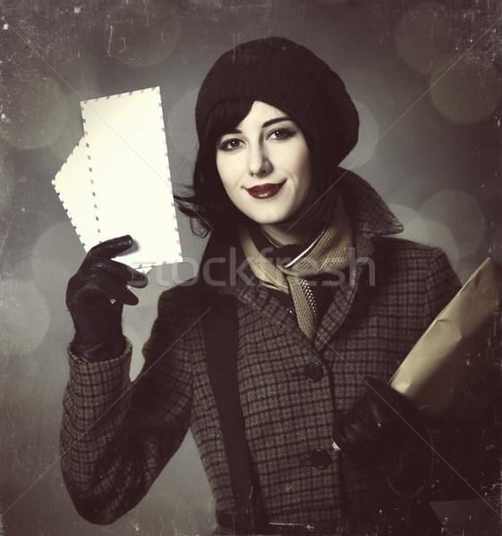 молодые почтальон девушки почты фото старые Сток-фото © Massonforstock