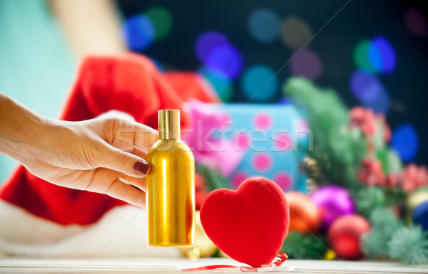 Heart shape toy and perfume Stock photo © Massonforstock