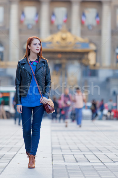 beautiful young woman exploring the town Stock photo © Massonforstock