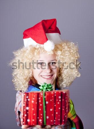 девушки Рождества Cap очки смешные Сток-фото © Massonforstock