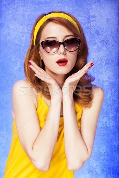 Americano menina óculos de sol foto 60 anos Foto stock © Massonforstock