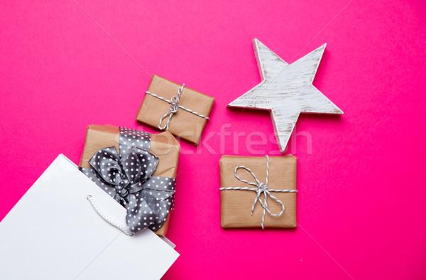 Cute geschenken star speelgoed boodschappentas Stockfoto © Massonforstock
