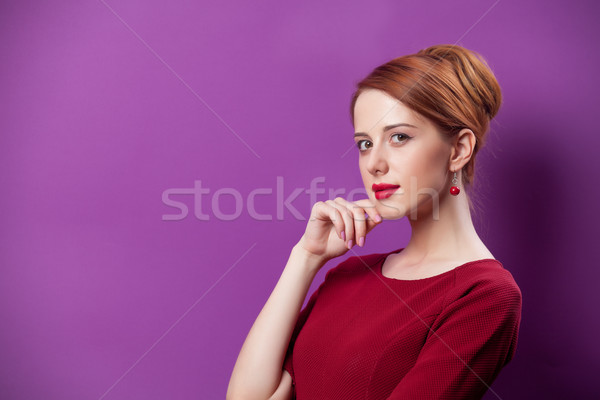 Foto hermosa pie maravilloso púrpura Foto stock © Massonforstock