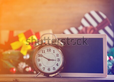 Alarm clock and photo frame Stock photo © Massonforstock