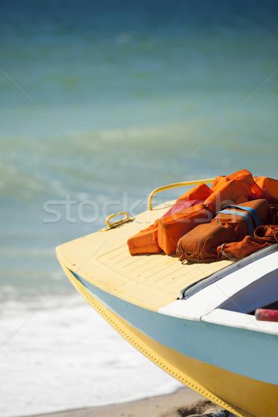 Resgatar barco praia céu paisagem azul Foto stock © Massonforstock