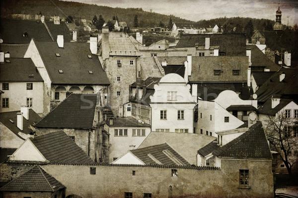 Oude binnenstad zuiden boheems regio tsjechisch Tsjechische Republiek Stockfoto © Massonforstock