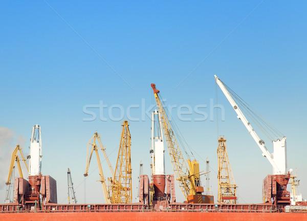 Winter in a Odessa seaport Stock photo © Massonforstock