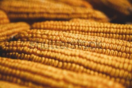 öreg kukorica reggeli főzés szakács eszik Stock fotó © Massonforstock