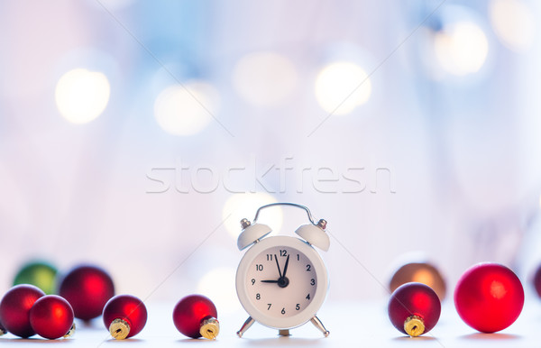 christmas alam clock with fairy  Stock photo © Massonforstock