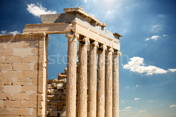 photo of beautiful ruined temple on the wonderful sky background Stock photo © Massonforstock