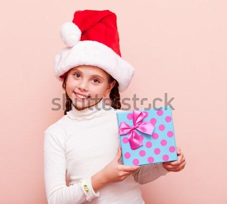 Girl with gift box  Stock photo © Massonforstock