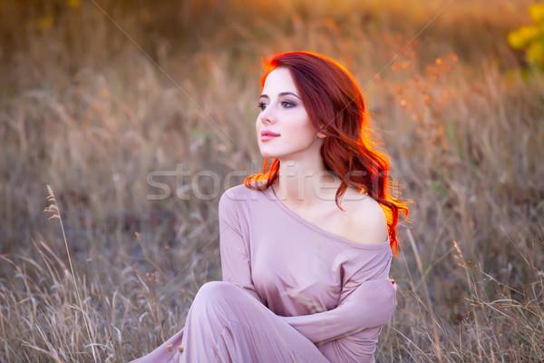 Hermosa fantástico vestido maravilloso hierba Foto stock © Massonforstock