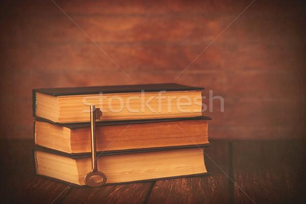 Books with key  Stock photo © Massonforstock