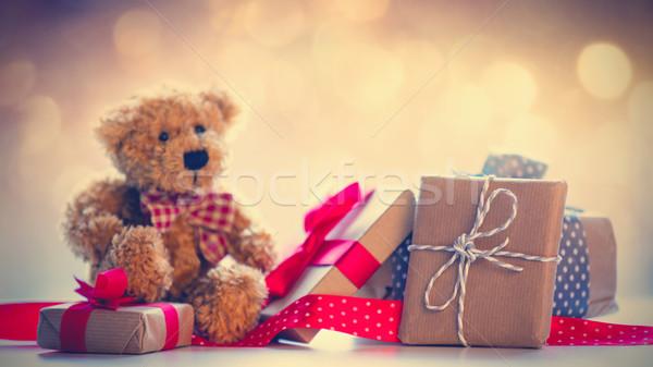Cute Nounours belle cadeaux fée Photo stock © Massonforstock