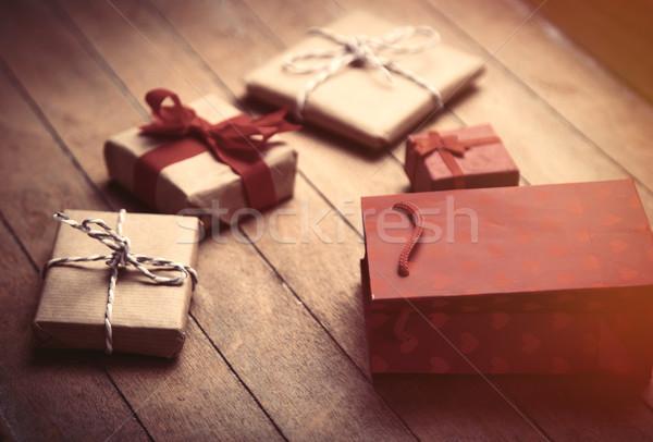 Cute подарки Cool красный корзина замечательный Сток-фото © Massonforstock