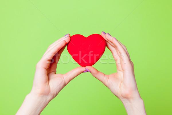Foto femenino manos corazón Foto stock © Massonforstock