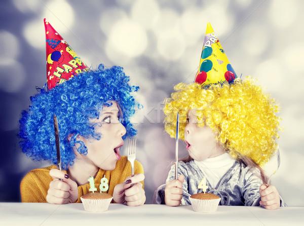 Dwa funny siostry cztery osiemnastu rok Zdjęcia stock © Massonforstock