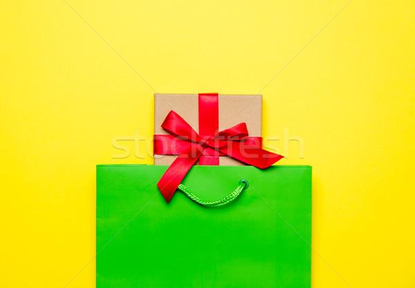 Bonitinho dom belo verde bolsa de compras maravilhoso Foto stock © Massonforstock